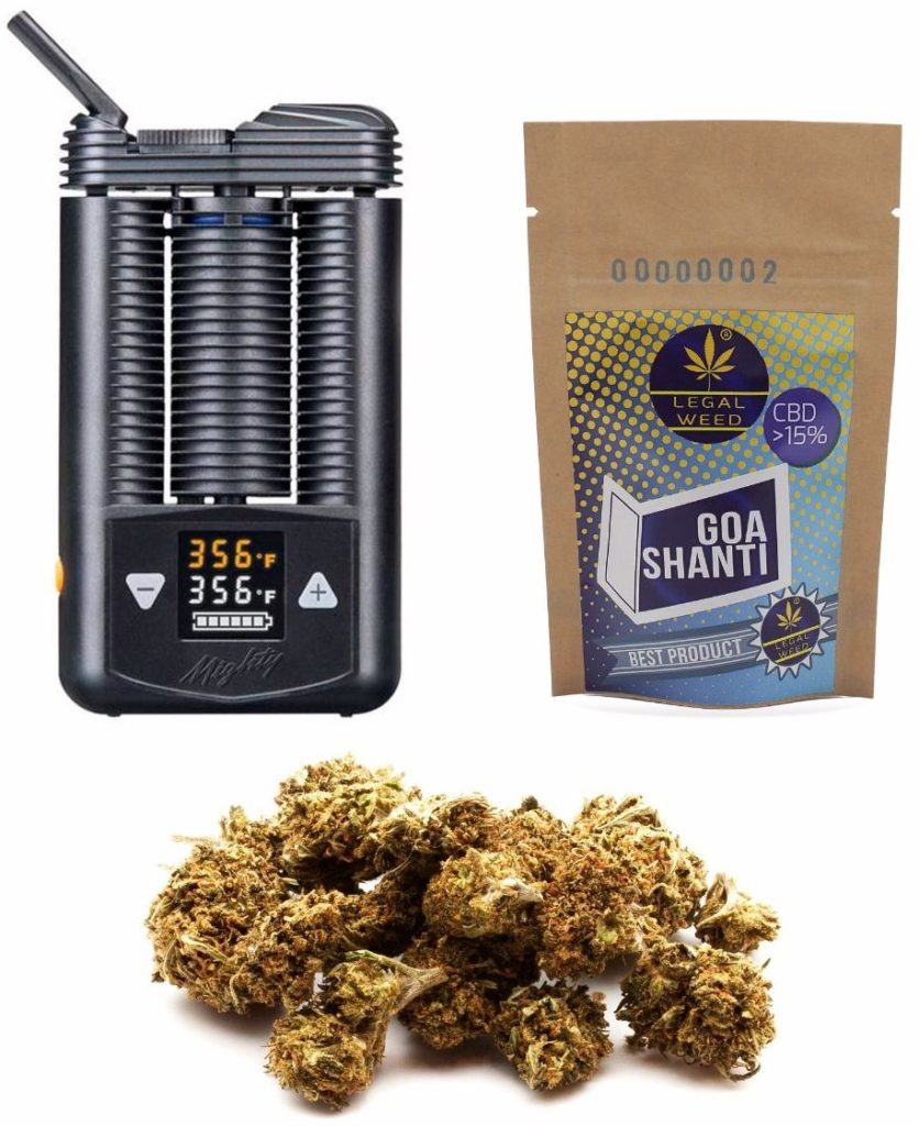 proposta PuntoG pacchetto vaporizzatore con cannabis legale ad alto CBD