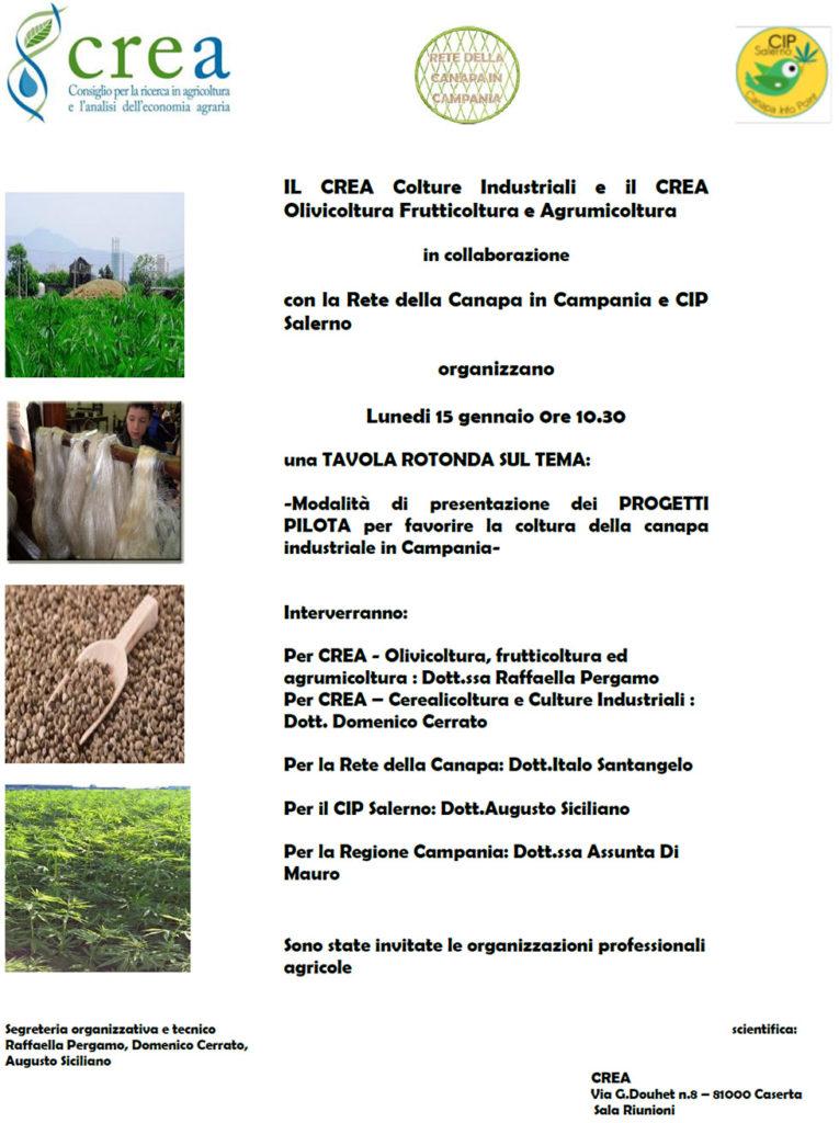 tavola rotonda sui progetti pilota per favorire la coltura della canapa