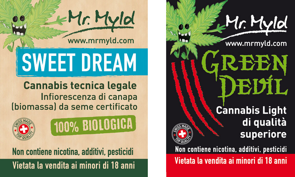 Cannabis Light Legale nel circuito tabaccai Mr Myld Sweet Dream Green Devil