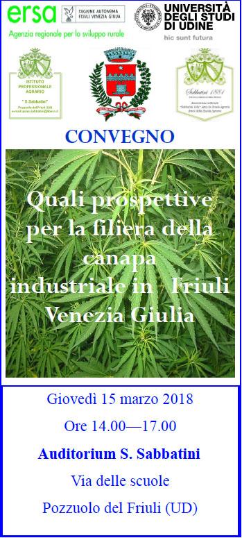 Canapa industriale in Friuli Venezia Giulia Pozzuolo del Friuli
