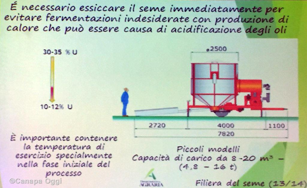 Meccanizzazione nella Canapa Industriale: essiccazione seme