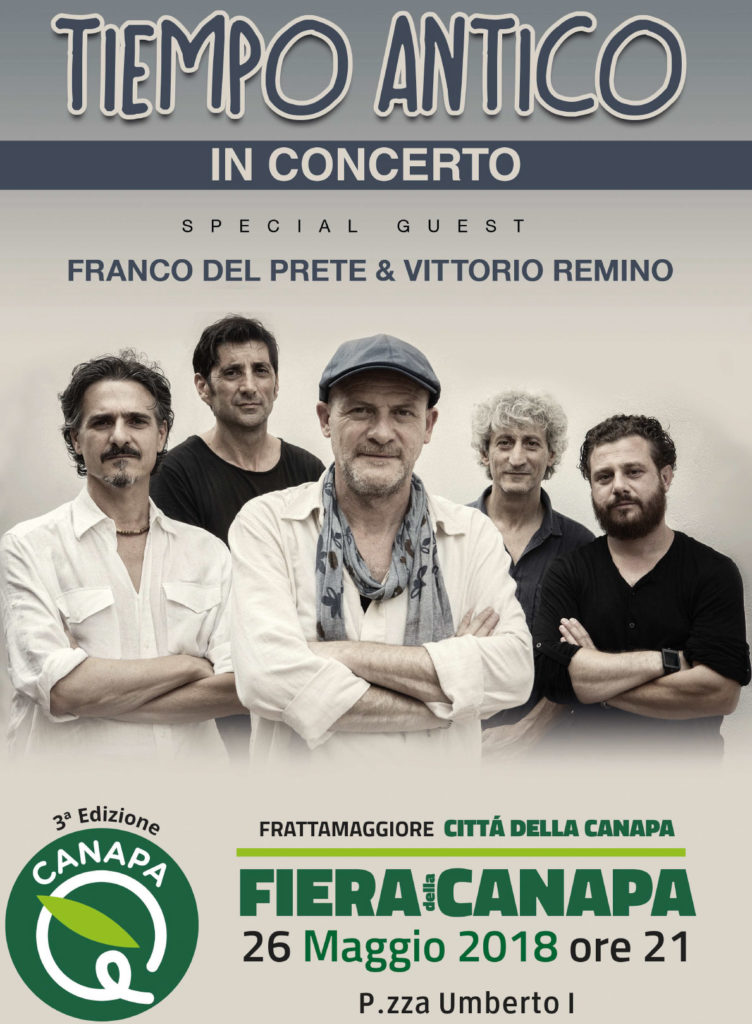 Canapa è 2018 a Frattamaggiore: concerto Tiempo Antico