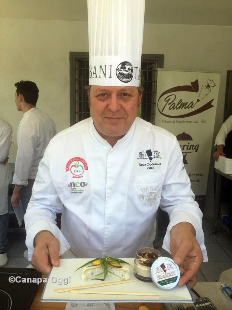 Canapa Campana, al Canapa Day 2018 lo chef Nino Cannavale e il suo Tiramisù alla Canapa