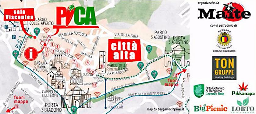Bergamo PiCa Festival 2018 mappa