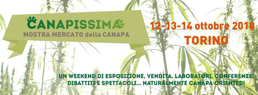 Canapissima a Torino dal 12 al 14 ottobre 2018