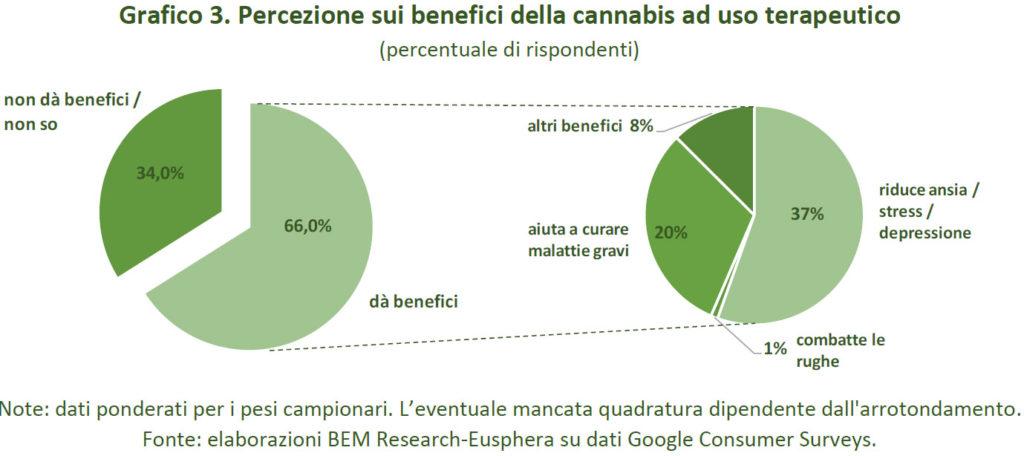 l'interesse degli italiani per la Cannabis terapeutica