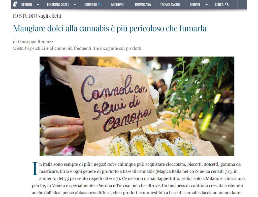 Alimenti italiani da semi di Canapa e disinformazione