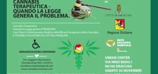 Cannabis terapeutica convegno Cannabis cura sicilia 30 novembre 2019