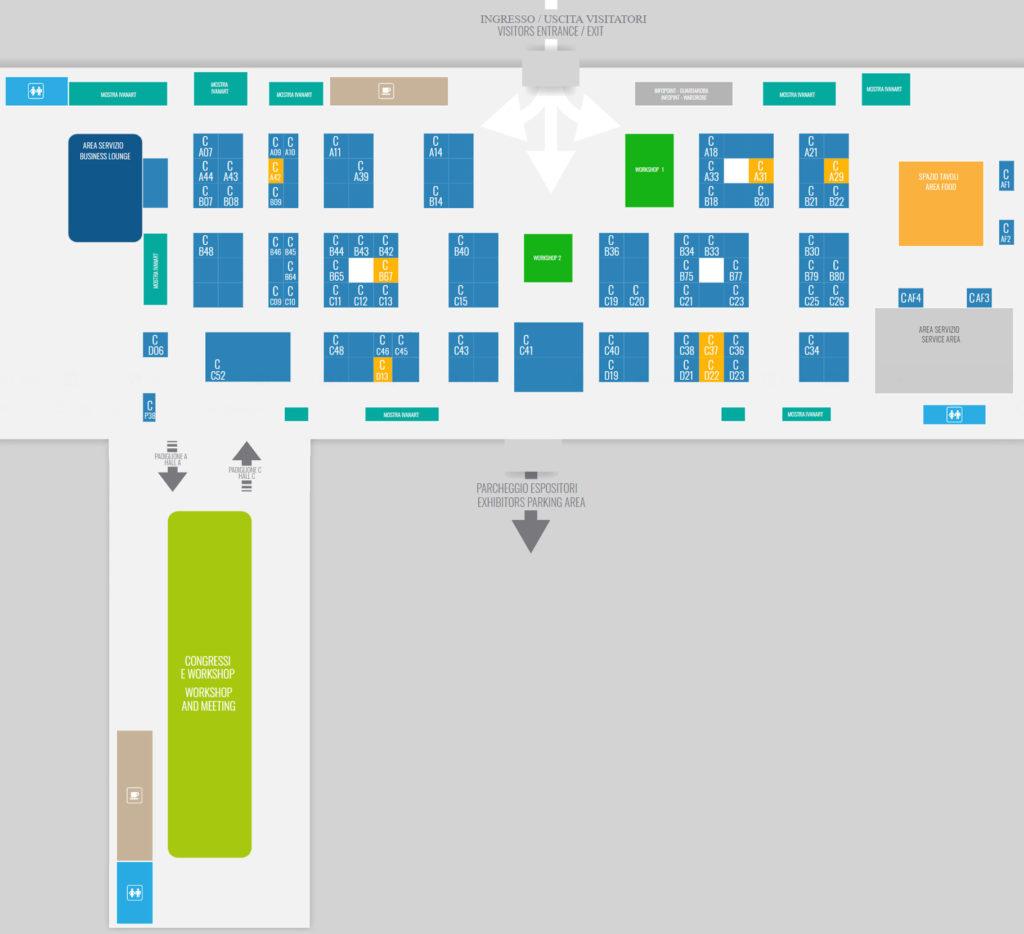 Canapa Expo di Milano 2019 mappa dell'esposizione