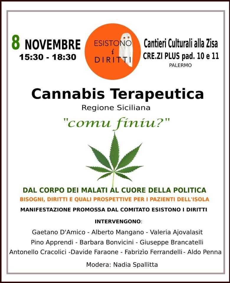 comu finiu cannabis terapeutica Sicilia